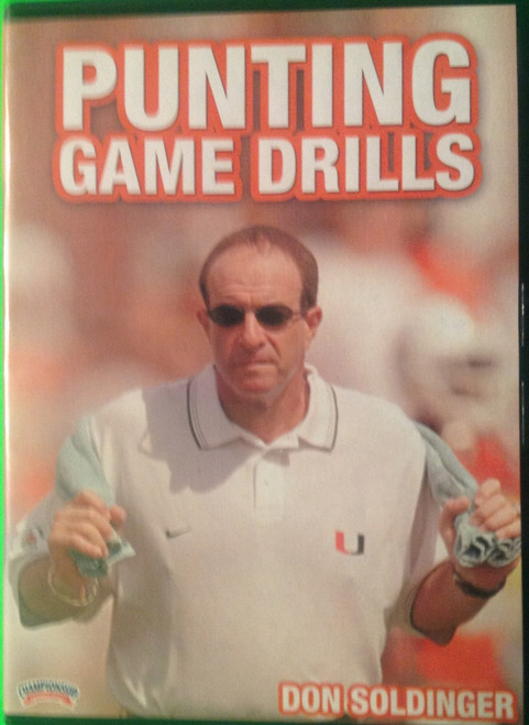 PUNTING GAME DRILLS DVD by Don Soldinger Instructional Basketball Coaching Video
