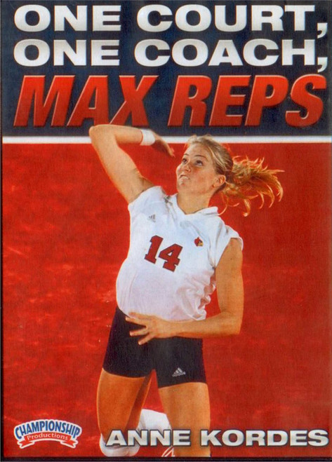 ONE COURT, ONE COACH, MAX REPS by Anne Kordes Instructional Volleyball Coaching Video