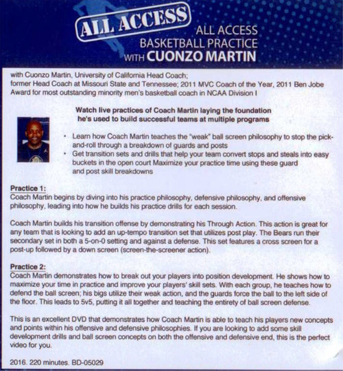 (Rental)-All Access: Basketball Practice With Conzo Martin