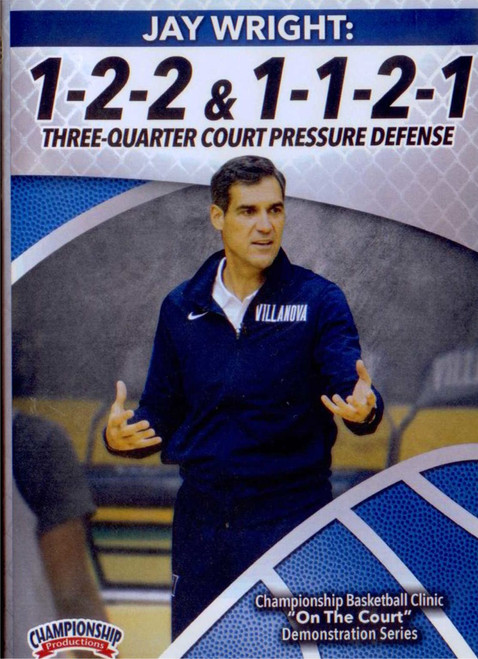 1-2-2 & 1-1-2-1 Three Quarter Court Pressure Defense by Jay Wright Instructional Basketball Coaching Video