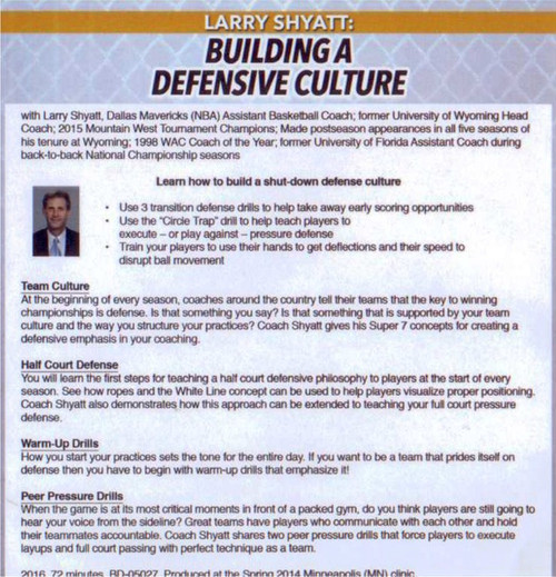(Rental)-Building A Defensive Culture