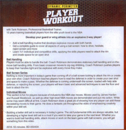 Basketball Perimeter Player Workout Drills