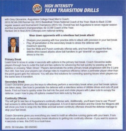 (Rental)-High Intensity Team Transition Drills