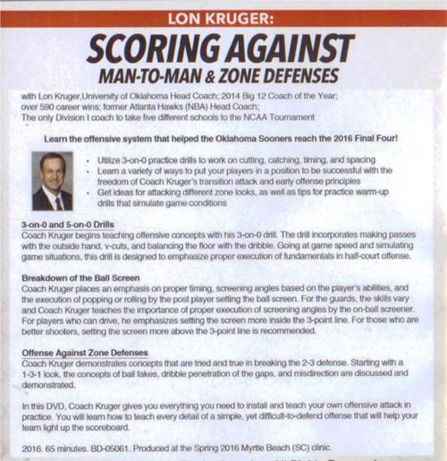 (Rental)-Scoring Against Man To Man & Zone Defenses