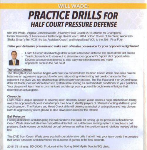 (Rental)-Practice Drills For Half Court Pressure Defense
