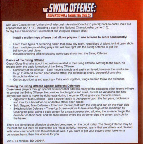 (Rental)-The Swing Offense: Breakdown & Shooting Drills