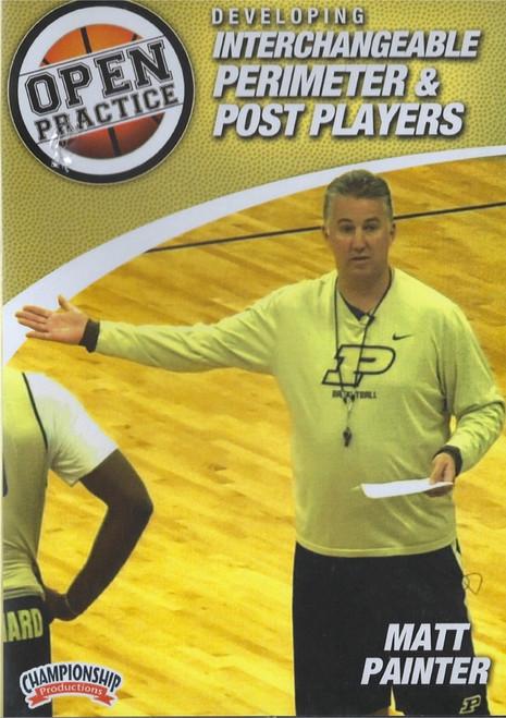 Developing Interchangeable Perimeter & Post Players by Matt Painter Instructional Basketball Coaching Video
