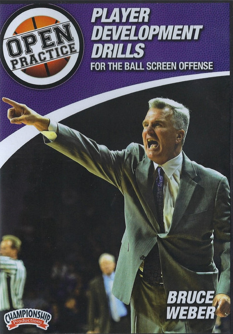 Player Development Drills For The Ball Screen Offense by Bruce Weber Instructional Basketball Coaching Video