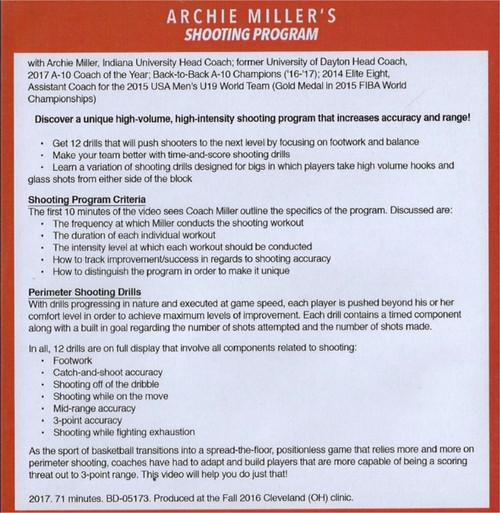 (Rental)-Archie Miller's Shooting Program