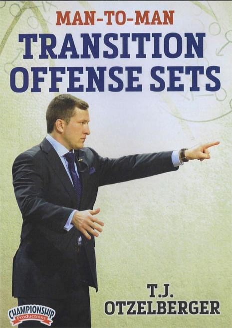 Man To Man Transition Offense Sets by T.J. Otzelberger Instructional Basketball Coaching Video