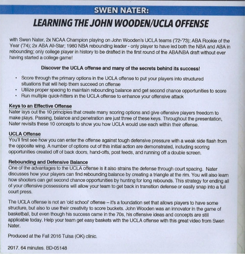 (Rental)-Learning The John Wooden Ucla Offense