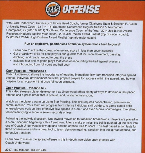 spread offense for basketball with Brad Underwood