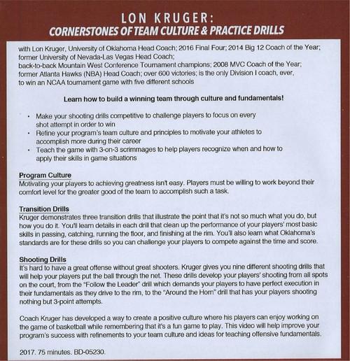 (Rental)-Cornerstones Of Team Culture & Practice Drills