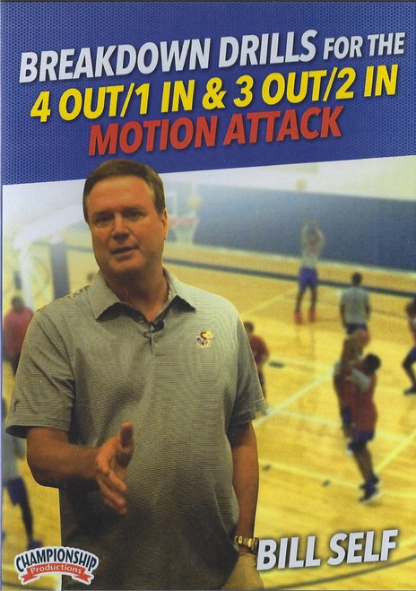 Breakdown Drills For The 4 Out 1 In & 3 Out 2 In Motion Attack by Bill Self Instructional Basketball Coaching Video