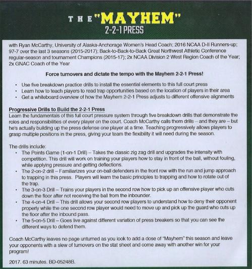 (Rental)-The Mayhem 2-2-1 Press