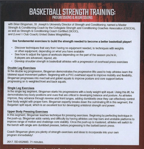 (Rental)-Basketball Strength Training: Progressions & Regressions