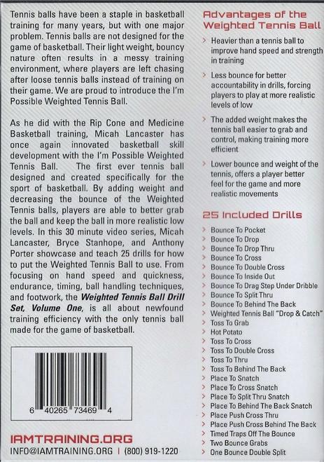 (Rental)-WeightedTennis Ball Drill Set Vol. 1
