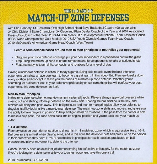 (Rental)-The 1-1-3 & 3-2 Match Up Zone Defenses