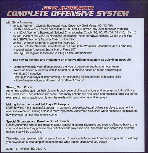 (Rental)-Geno Auriemma's Complete Offensive System