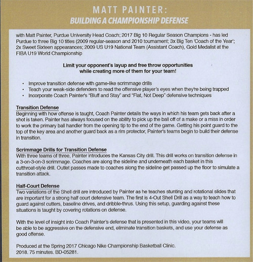 Matt Painter Defense Video