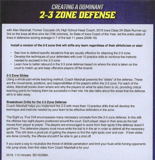 2-3 Zone Defense Drills