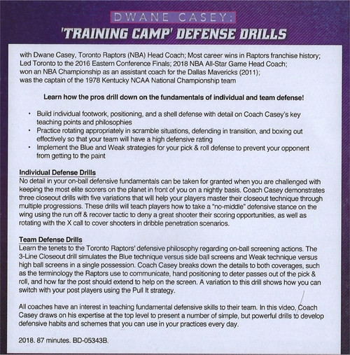 (Rental)-Training Camp Defensive Drills