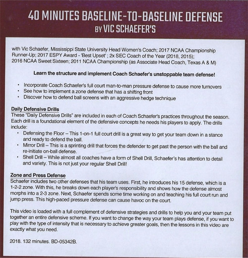 (Rental)-40 Minutes Baseline To Baseline Defense
