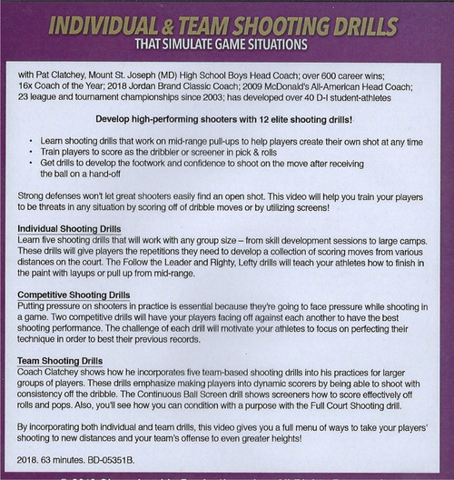 (Rental)-Individual & Team Shooting Drills That Simulate Game Situations