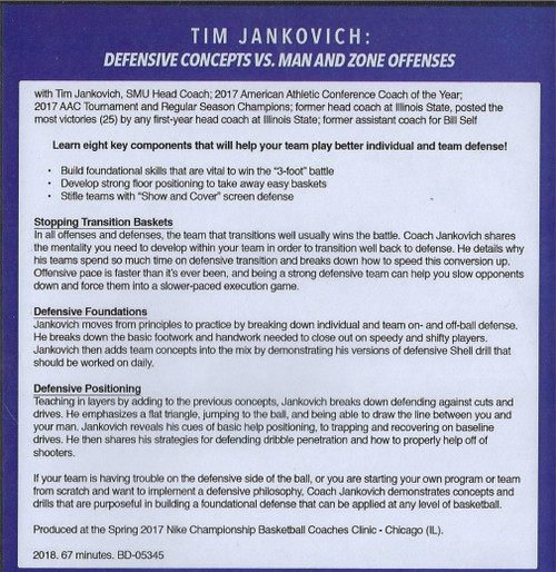 (Rental)-Defensive Concepts Vs. Man & Zone Defenses