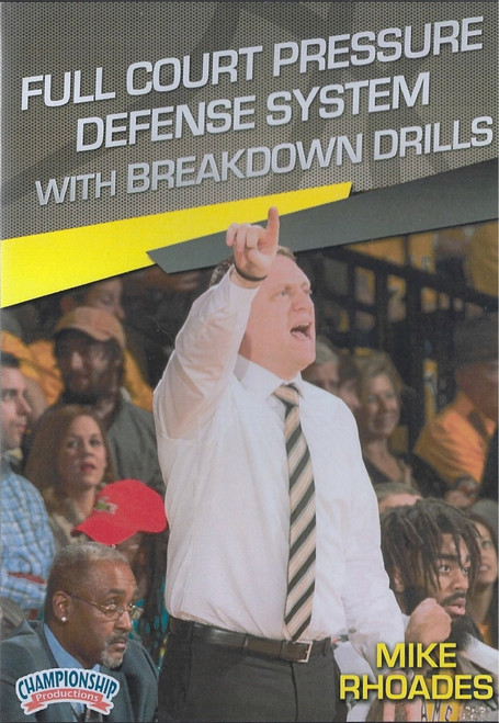 Full Court Pressure Defense System With  Breakdown Drills by Mike Rhoades Instructional Basketball Coaching Video
