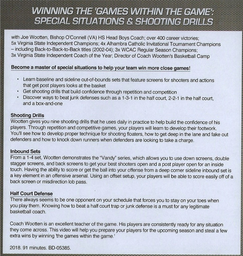 (Rental)-Winning The Games Withing The Game: Special Situations & Shooting Drills