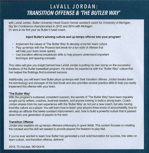 (Rental)-Transition Offense & The Butler Way