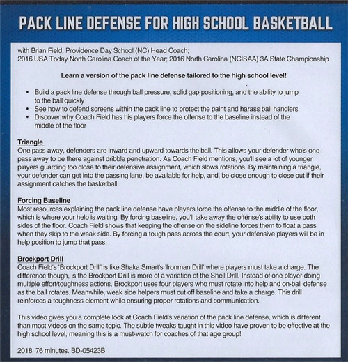 (Rental)-Pack Line Defense for High School Basketball