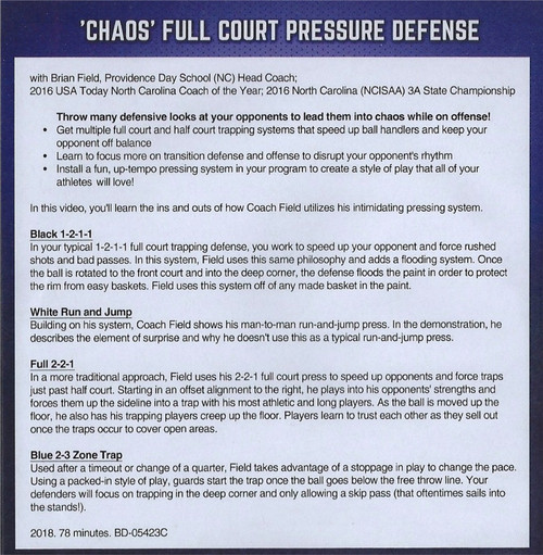 (Rental)-Chaos Full Court Pressure Defense