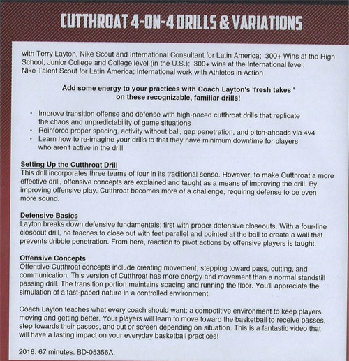 (Rental)-Cutthroat 4 on 4 Drills & Variations