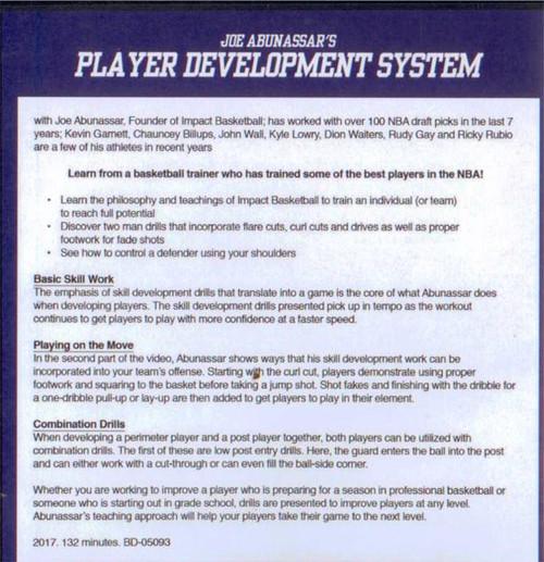 (Rental)-Joe Abunassar's Player Development System