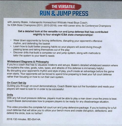 Run and jump Press Defense Drills