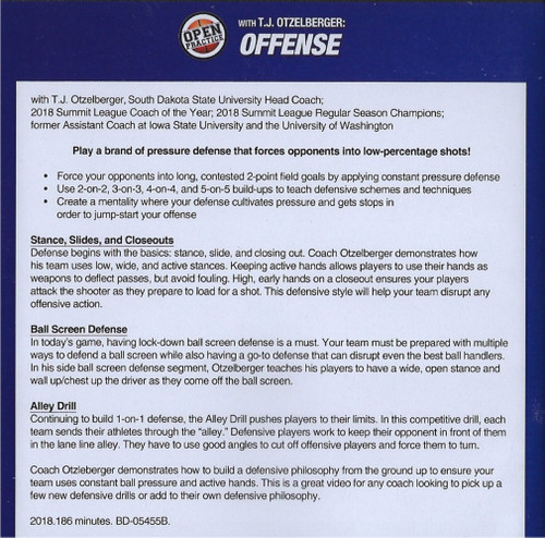 basketball defense practice drills video with T.J. Otzelberge