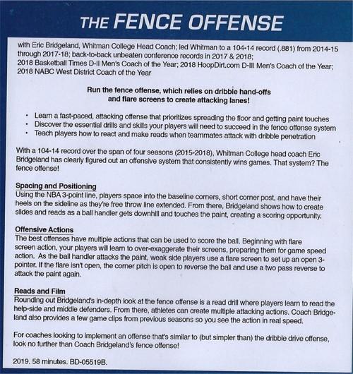 Fence offense basketball Eric Bridgeland