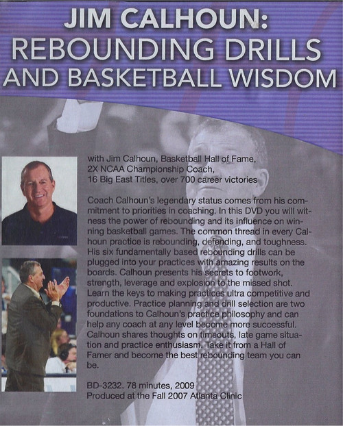 Basketball rebounding drills with Jim Calhoun