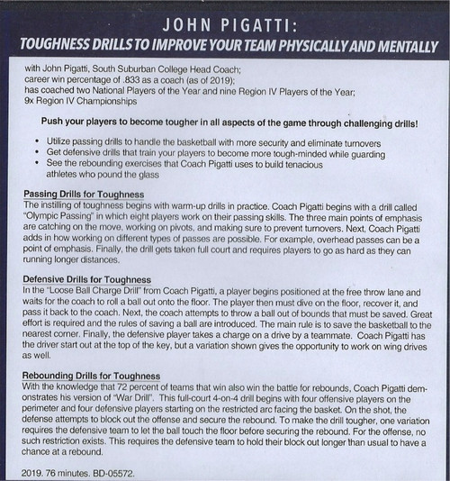 (Rental)-Basketball Toughness Drills to Improve Your Team Physcially & Mentally