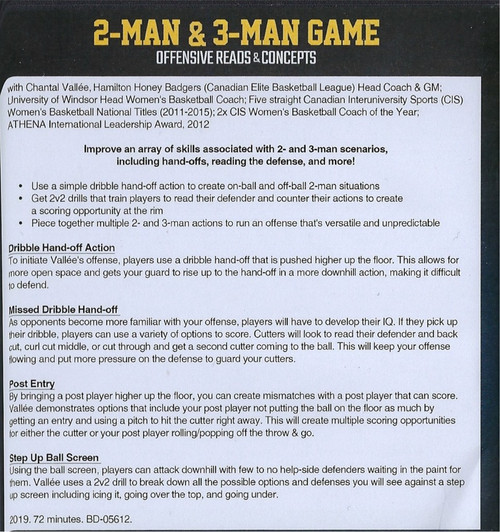 (Rental)-2 Man & 3 Man Game Offensive Reads & Concepts for Basketball