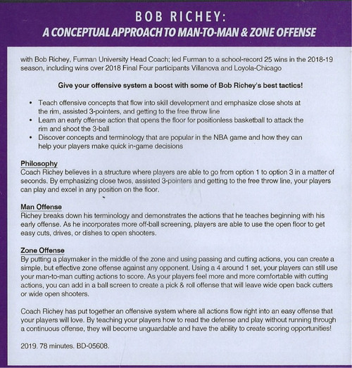 (Rental)-A Conceptual Approach to Man to Man & Zone Offense