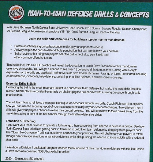 (Rental)-Man to Man Defense Drills & Concepts