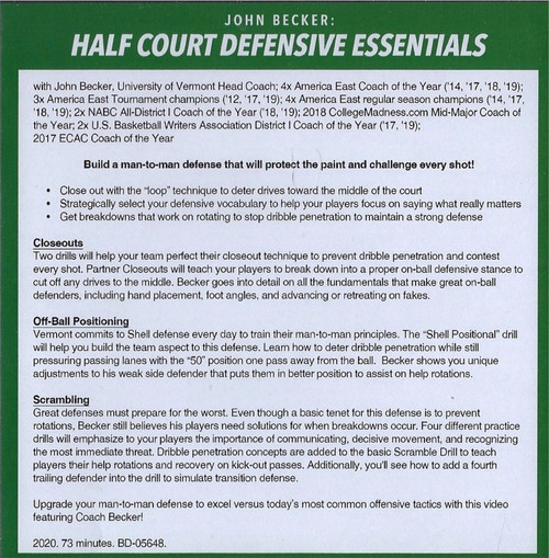 (Rental)-Half Court Defensive Essentials
