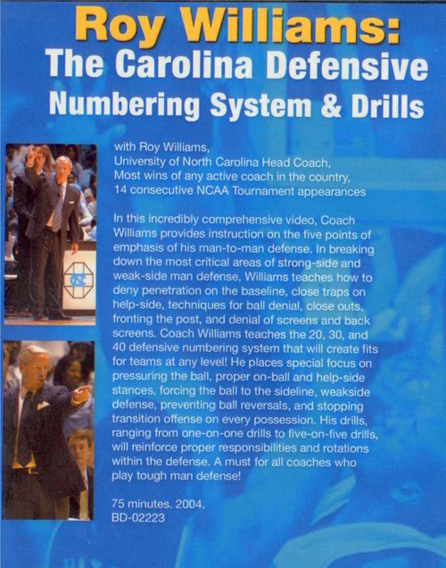 (Rental)-Roy Williams: The Carolina Defensive Numbering