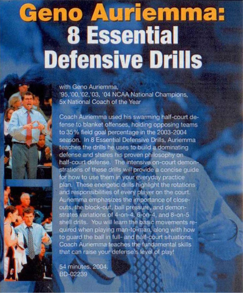 (Rental)-Geno Auriemma: Eight Essential Defensive Drills