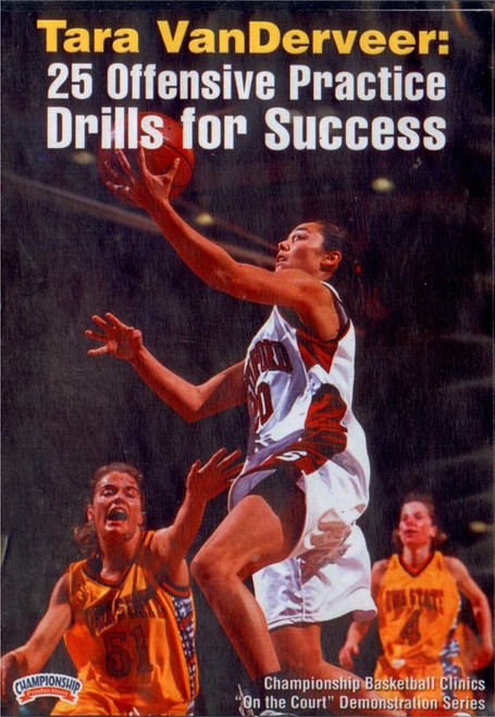 25 Offensive Practice Drills For Success by Tara VanDerVeer Instructional Basketball Coaching Video