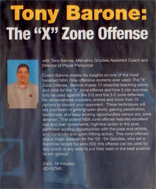 "(Rental)-12 Techniques Of The ""x"" Zone Offense"