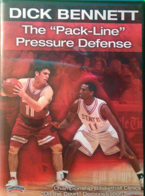 """The """"pack Line"""" Pressure Defense by Dick Bennett Instructional Basketball Coaching Video"""